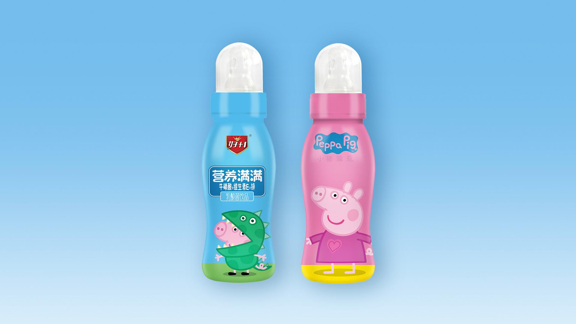 湖南饮品小猪佩奇乳酸菌合作
