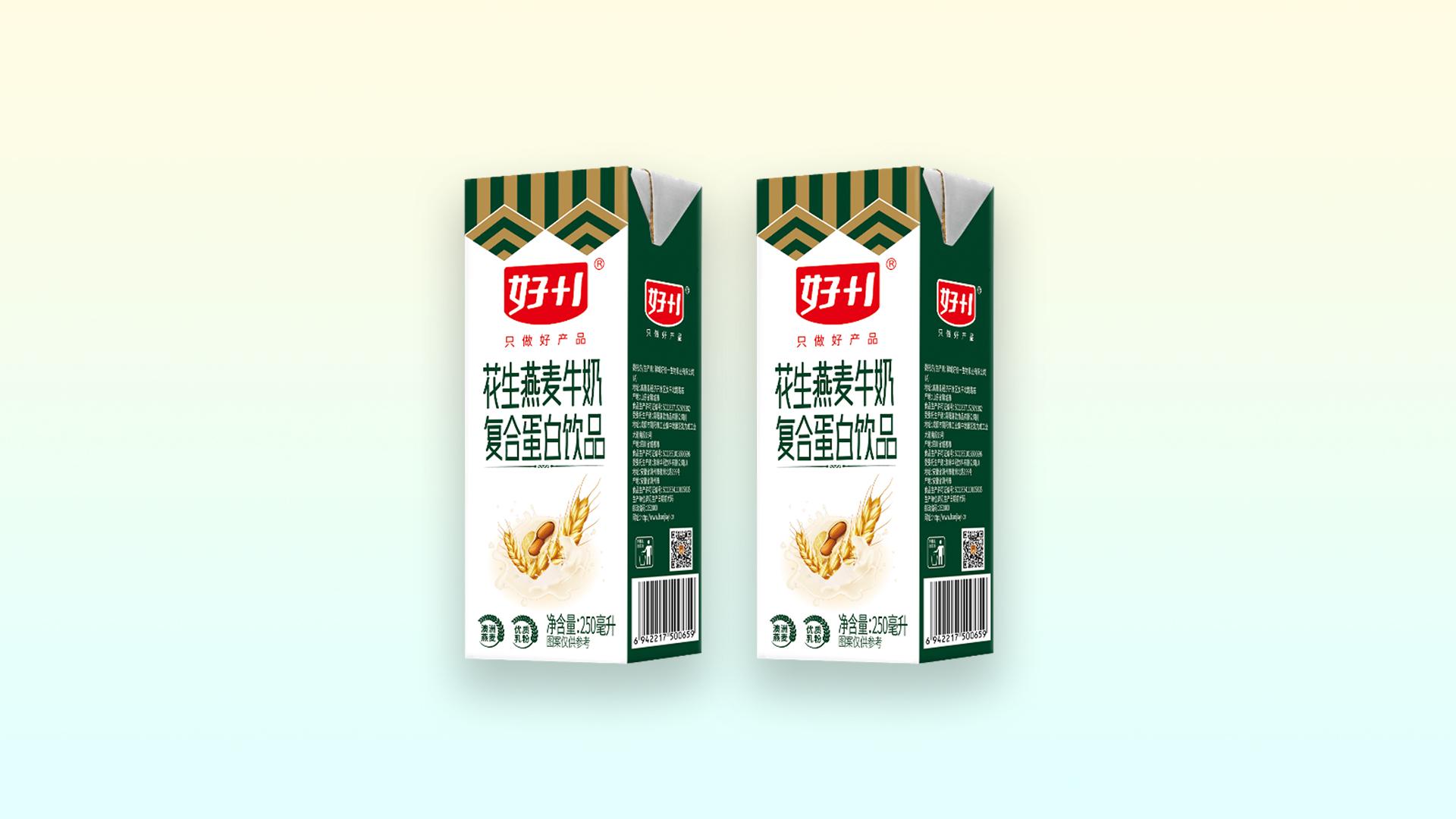 好+1复合蛋白饮品花生燕麦牛奶