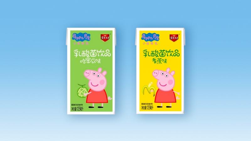 乳酸菌饮品(哈密瓜味和香蕉味)125ml利乐装