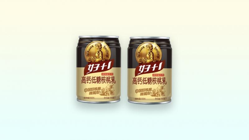 高钙低糖核桃乳矮罐