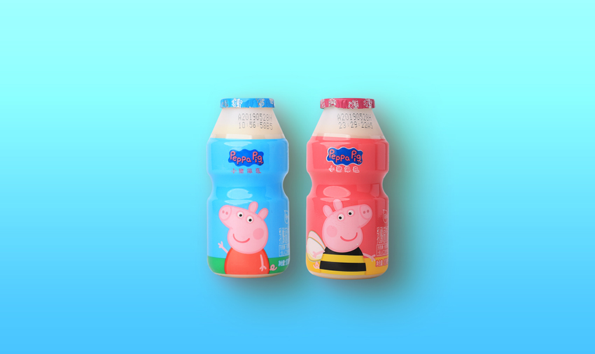 小猪佩奇乳酸菌100ml-原味 草莓味