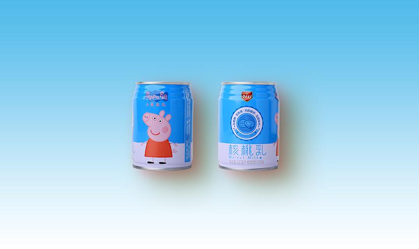 小猪佩奇核桃乳铁罐装240ml