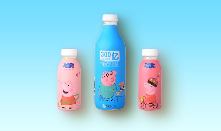小猪佩奇乳酸菌330g-樱花味 白桃桃花味 小猪佩奇乳酸菌1L-原味