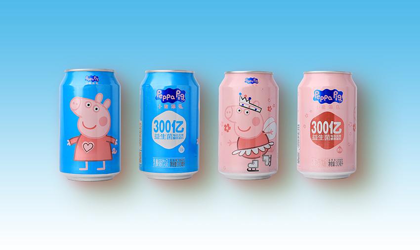 小猪佩奇乳酸菌易拉罐装300ml-原味 樱花味